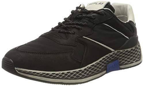 REPLAY Dokic Zapatillas para Hombre,Negro ( 003 Negro ) , 40 EU