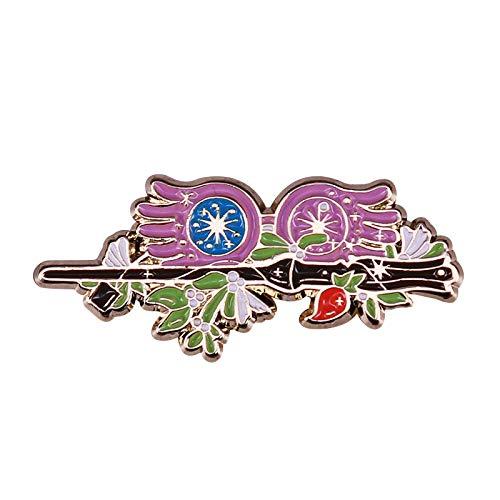 wangk Luna Lovegood Pin Gafas únicas Broche Magic Witch Bookish Etiqueta Chica