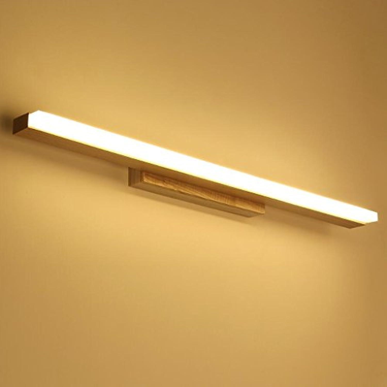Spiegellampen Spiegelschrank Leuchte LED Spiegel Frontleuchte Moderne minimalistische Massivholz Spiegelschrank Kommode Badezimmer Spiegel Frontscheinwerfer Bad Wasserdicht und Anti-Fog-Wandleuchte ( gre   606CM LED 14W )