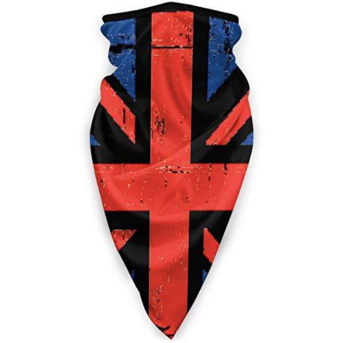 Liuqy Bandeau Banane, Drapeau Britannique rayé Multifonctionnel Magique Casque de Moto Demi-Visage Voile Cou Couverture