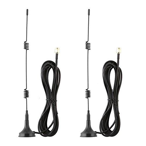 Tonton 2 Pack 10FT/3M 7dBi WiFi Verlängerungskabel Antennen für Wireless IP Überwachungskamera Verlängerungskabel mit Magnet Standfuß für IP Kamera Funk Kamera Wireless Überwachungskamera