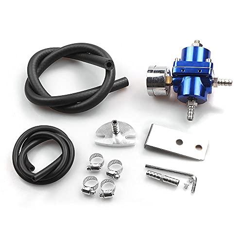 TANGIST Coche modificado Regulador de presión de combustible Válvula de regulación de combustible Petrol Booster Aplicador mejorado con reloj (Color : Blue)