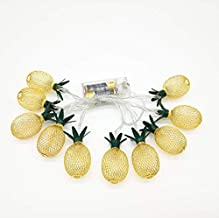 10 LED Pineapple String Lights, Fairy String Lights Battery Operated for Christmas Home Wedding Party Bedroom Birthday Dec...