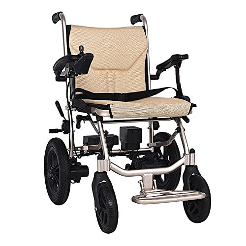 HEWXWX Elektrischer Rollstuhl(14kg),Leichte Faltbare/Mobile FußStüTze,Intelligente Steuerung/Reichweite: 20 Kilometer,FüR äLtere Menschen Und Behinderte