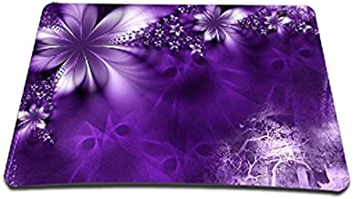 ToLuLu Regular Size (9.2 x 7.7 inch) Mouse pad Mouse Mat Mouse Mice Suit for Optical Laser Mouse, Purple Flower