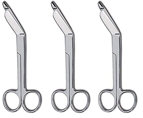 3pcs Set of Lister Bandage Scissors 5.5' Medical Instruments High Grade Surgical Stainless Steel