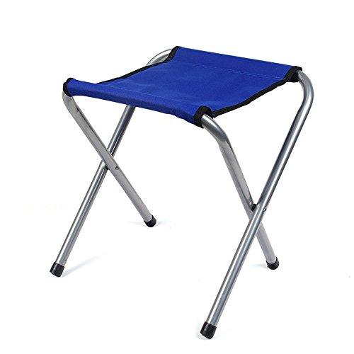 MYS-Bar stool C-K-P Tabouret Pliant, Mazar, Tabouret Pliant à l'extérieur Double, Tabouret décontracté, Chaise Portable pour Enfants, Chaise d'écriture, Bureaux à l'ombre (Couleur : Dark Blue)