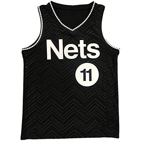 DFKGL Broóklyn Nets Bonus Edition # 11 Kyríé Irvínng Bordado sin Mangas Jersey Transpirable Basketball Jersey Black-XL