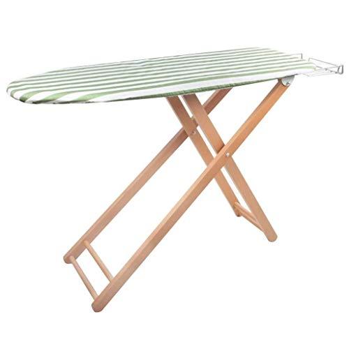 Plegado hogar tabla de planchar Tablas de planchar de madera maciza de planchado Plancha Tabla Inicio plegable del hierro del estante Tabla Inicio altamente ajustable (color: verde, Tamaño: 107x33x83c