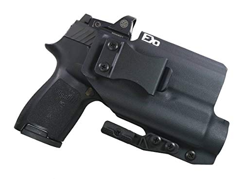 Fierce Defender IWB Kydex Holster Sig P320c RX Optic Cut w/TLR1 The Paladin Series -Made in USA- (Black)