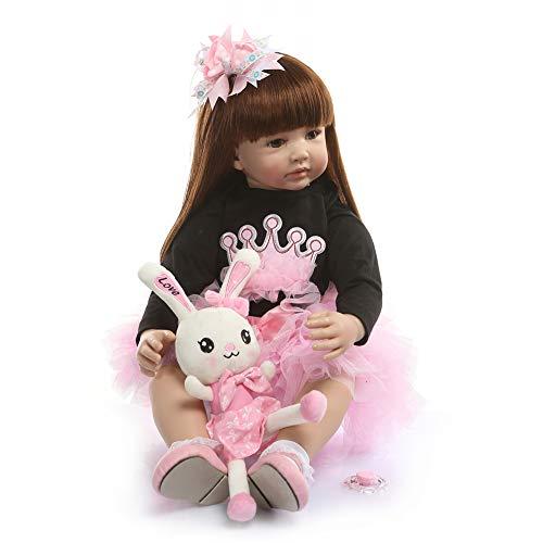 Zero Pam 24 inch Reborn Baby Doll 60cm Soft Body Baby Doll Reborn Toddlers Girl Doll