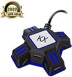 Adaptador de ratón y teclado PS4 Adaptador convertidor de teclado y ratón para consola Nintendo Switch / Xbox One / PS4 / PS3