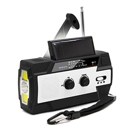 【LEAP】防災ラジオ 非常用照明器具 手回し充電 USB充電 停電緊急対策 スマホ充電対応可能 日本語説明書付き (ホワイト)