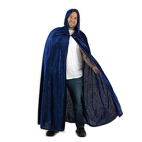 Everfan Navy Blue Hooded Cape | Cloak with Hood for Halloween, Cosplay, Costume, Dress Up