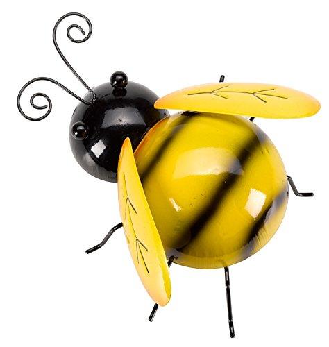 SMART SOLAR 5032004 Hanging Bee 16 cm, Yellow