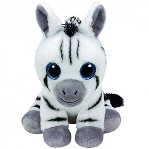 TY T96309 Stripes 96309 Zebra Pluschtier mit Glitzeraugen, Mehrfarbig