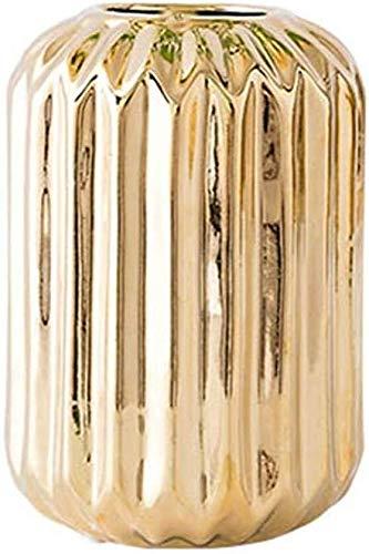 Vaas plant bloem keramiek goud driedimensionale geometrie vergulde glaskunst hoofdportaal wijnklimaatkast sieraden-geschenk-decoratie 9 * 11 * 11cm woonaccessoires decoratie