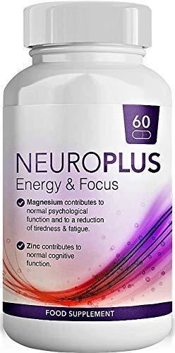 Cafeína con L-Teanina, Vitamina B5, Zinc y Magnesio para una Energía Suave y Enfoque - Energía enfocada para su Mente y Cuerpo - No. 1 Pila Nootrópica para Desempeño Cognitivo