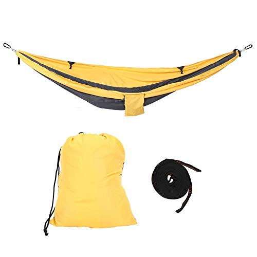 Yosoo Hanging Chair Bed Dual Use Portable Hammock Swing for Camping Courtyard Corridor Outdoors(Yellow Gary)
