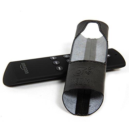 Hermitshell premium PU Funda de cuero piel cubierta protectora Bolsa para Amazon Fire TV regulador teledirigido Colore: negro