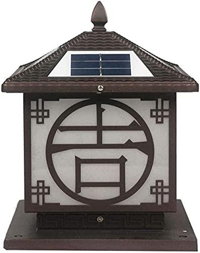 Outdoor Solar Fence Post lampada Villa Giardino Prato lampada Impermeabile e antipolvere Terrazza lampada Semplice Apparecchiatura Illuminazione Decorativa