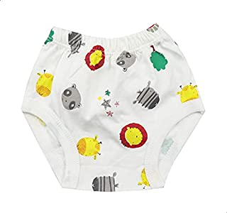 Skills Elastic-Waistband Animal-Print High-Rise Briefs for Girls - Multi Color, 3-6 Months
