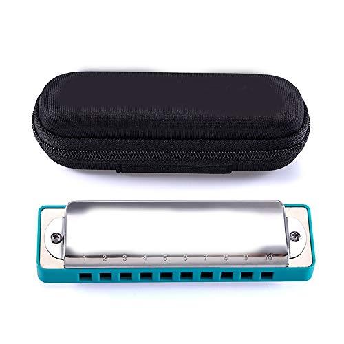 ERWEF 10-Loch-C Mundharmonika, Blues Harmonica Instrument, Rock-Folk-Musik-Instrument, for Anfänger, Studenten (Color : C)
