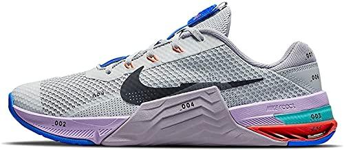 Nike Metcon 7, Zapatillas de ftbol Unisex Adulto, Gris Negro Púrpura, 44.5 EU