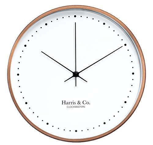 Harris & Co. Clockmasters Metal Wall Clock (12 inch, Gold)