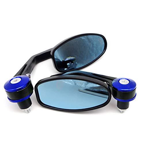 Mircycle Mirror Fin Barra Espejos, Accesorios de Moto para Kawasaki Z900 Vulcan S 650 Z800 Windshield ZX6R 2006 Ninja 300 ZR7 (Color : Blue)