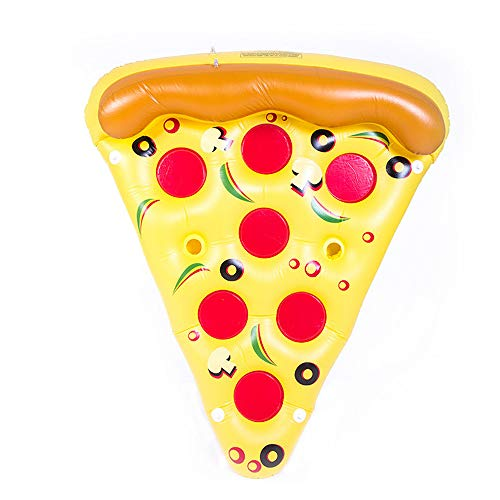 Aufblasbarer Luftmatratze 180 * 150 cm Riese Pizza Stück Float Floß PVC verdicken Beach Pool Mat