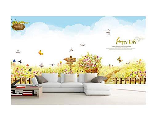 3D Kinder Baby Room Wallpaper Benutzerdefinierte Hd Fototapete Vlies Wandaufkleber Garten Frühling Malerei Zimmer 3D Wandbild Papier 200 * 140 Cm