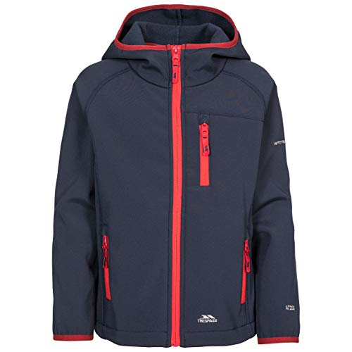 Trespass Kinder KIAN Softshell-Jacke, Navy, 9/10