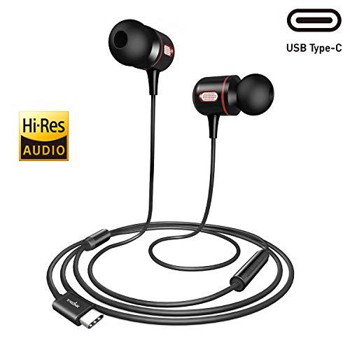 USB Typ C Ohrhörer Hi-Res In Ear Kopfhörer mit Mikrofon für Google Pixel 3/3XL/2/2XL, iPad Pro/MacBook Pro/Air, Xiaomi, Huawei P30/P20/Pro/Mate20/Mate10, Sony Xperia, HTC U12/U11/10, OnePlus 7/Pro