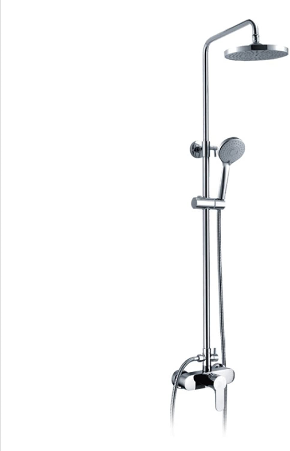 HH shower set European shower set lift shower hot and cold shower wall mounted shower hand shower bathroom shower hot and cold water mixing valve