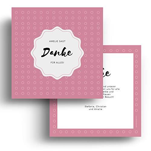 (10 x) Geburtskarten Danksagungskarten Geburt Baby Dankeskarte Foto Jungen Mädchen Karten Rosa