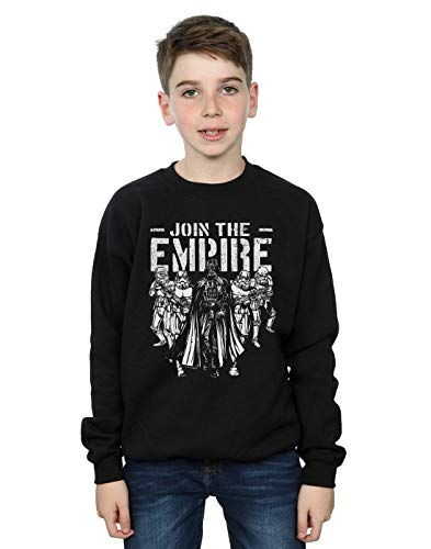 Star Wars Boys Support The Troops Sweatshirt Black 5-6 Years
