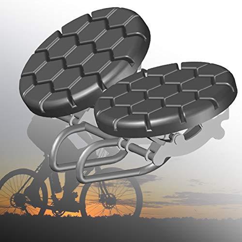 ZPCSAWA Sillín Antiprostatico MTB, Muy Comodo Ergonómico Asiento Bicicleta Noseless con Extra Grande Cojín Y Impacto Fijo Diseño para Bicicleta Eléctrica De Montaña