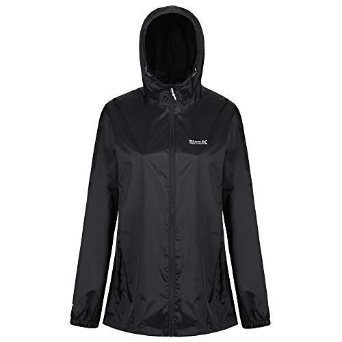 Regatta Damen Pack it III wasserdichte Shell Jacke, schwarz, L (Herstellergröße: 16)
