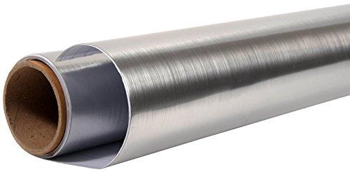 Nordlinger Pro 600015 Placflex Klebefolie, selbsthaftend, fürDekoration/Renovierung, 0,90 x 2,15m, Farbe Edelstahl