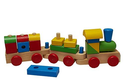 Juguetutto - Tren de Piezas - Juguete de Madera