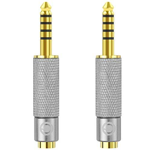 Geekria Adaptador Convertidor para Auriculares, Adaptador Audio Jack, Convert Connector Adapter (4.4mm Macho - 2.5mm + 3.5mm Hembra)