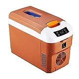 Refrigerador/Calentador casero del refrigerador del Coche del Mini refrigerador 12L con el termostato de Digitaces Buena disipación de Calor 12V / 24V / 220V (Color : Brown)