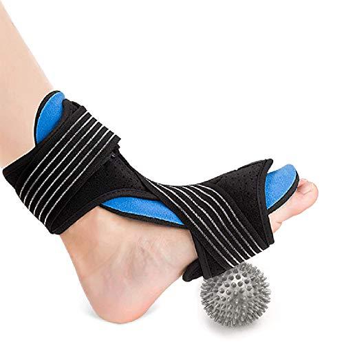 Férula para fascitis plantar Healifty, soporte de tobillo de compresión ajustable con bola de masaje y vendaje para artritis, alivio del dolor, esguinces, lesiones deportivas y recuperación (i