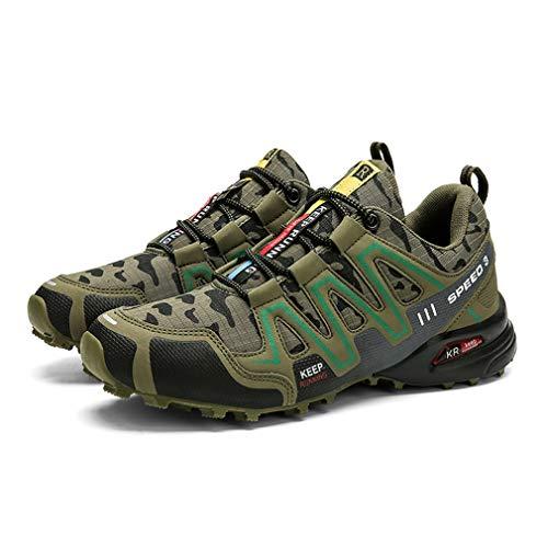 Zapatillas de Senderismo Hombre Aire Libre y Deporte Zapatillas de Malla Transpirables Zapatillas de Trabajo Ultraligeras y Antideslizantes Trainers Speed 3