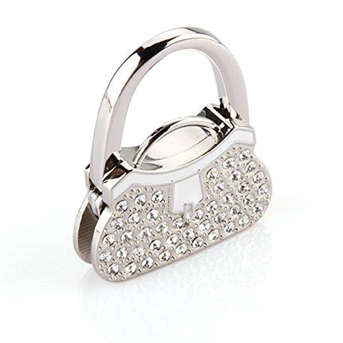 Mesa plegable Metal diamantes de imitación bolso de mano Monedero soporte colgador...