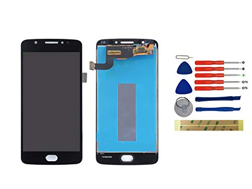 Yixi Display per Motorola Moto E4 E (4th Gen) XT1766 XT1767 XT1763 XT1762 Schermo LCD Nero Touch Screen Digitizer Ricambio Ricambi No Frame