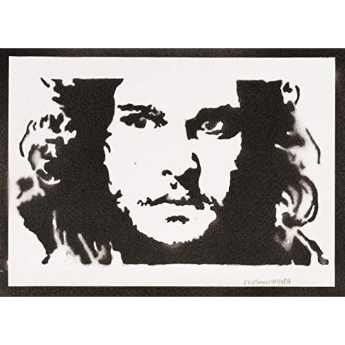 Poster Jon Snow Il Trono di Spade Game of Thrones Handmade Graffiti Sreet Art - Artwork