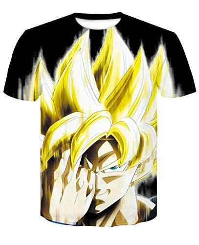 ONLYONE1 T-Shirts Dragon Ball Z Neutraal shirt met halve mouwen Unieke persoonlijkheid lichtgewicht top