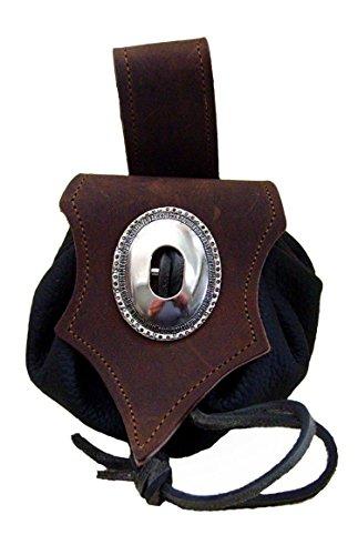 Lederbeutel Dukatenbeutel Geldkatze Farbe dunkel braun - schwarz